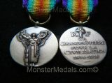 MINIATURE WW1 INTER ALLIED VICTORY MEDAL FRANCE (OFFICAL VERSION)